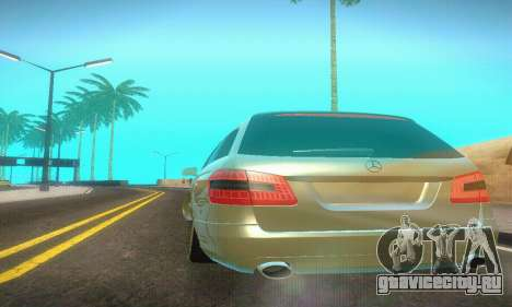 Mercedes-Benz E350 Wagon для GTA San Andreas вид изнутри