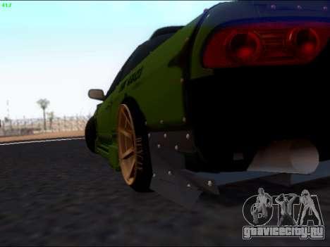 Nissan 180sx Takahiro Kiato для GTA San Andreas вид изнутри