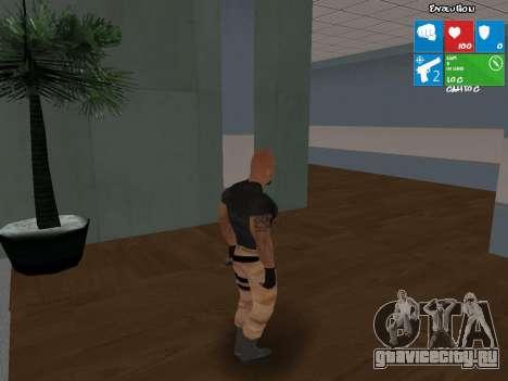 Люк Хоббс из Форсаж 5 для GTA San Andreas второй скриншот