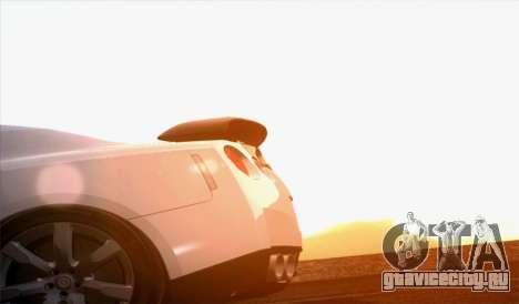 Nissan GT-R Carbon для GTA San Andreas вид сзади слева