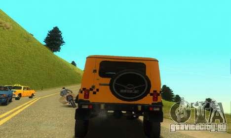 УАЗ Hunter Такси для GTA San Andreas вид сзади