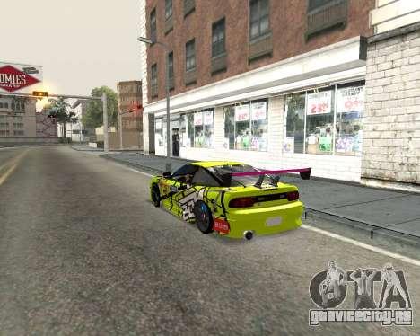 Nissan 240sx Drift для GTA San Andreas вид сзади слева