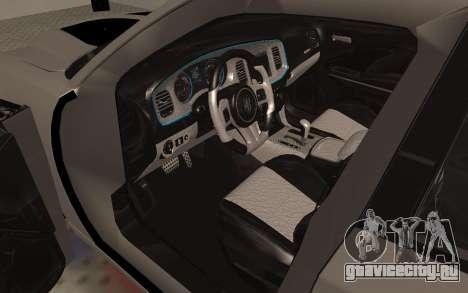 Dodge Charger Super Bee для GTA San Andreas вид сзади