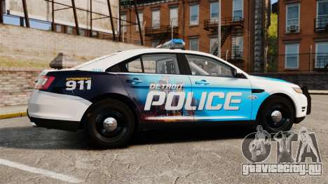 Ford Taurus 2010 Police Interceptor Detroit для GTA 4 вид слева