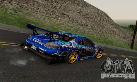Nissan Silvia S15 Toyo Drift для GTA San Andreas вид сзади