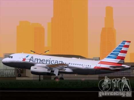 Airbus A319-112 American Airlines для GTA San Andreas вид справа