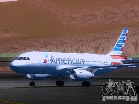 Airbus A319-112 American Airlines для GTA San Andreas вид слева