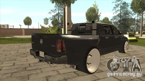 Dodge Ram Laramie Low для GTA San Andreas вид справа