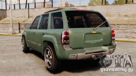 Chevrolet TrailBlazer SS 2008 для GTA 4 вид сзади слева