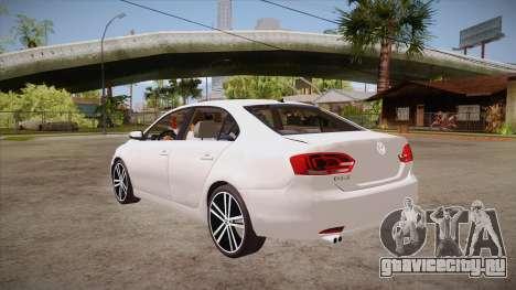 VW Jetta GLI 2013 для GTA San Andreas вид сзади слева