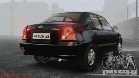 Hyundai Accent Admire для GTA 4 вид сзади слева