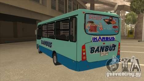 BANBUS Bus Srb. для GTA San Andreas вид сзади