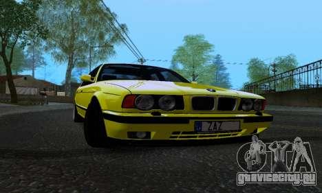 BMW M5 E34 IVLM v2.0.2 для GTA San Andreas вид изнутри