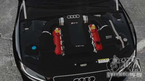 Audi RS5 2011 v2.0 для GTA 4 вид изнутри