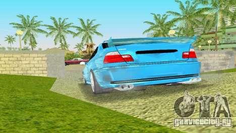 BMW M3 E46 Hamann для GTA Vice City вид справа