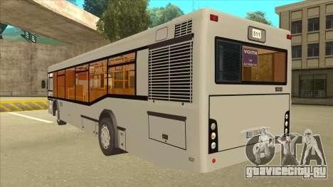 511 Sremcica Bus для GTA San Andreas вид сзади