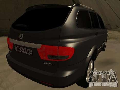 SsangYong New Kyron 2013 для GTA San Andreas вид сзади слева