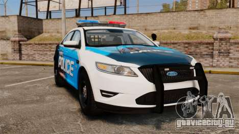 Ford Taurus 2010 Police Interceptor Detroit для GTA 4