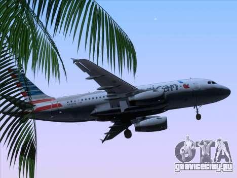 Airbus A319-112 American Airlines для GTA San Andreas вид сверху