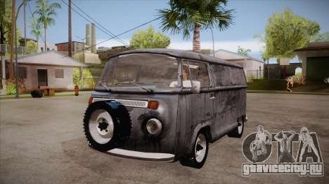 Volkswagen Transporter T2 Custom для GTA San Andreas вид изнутри