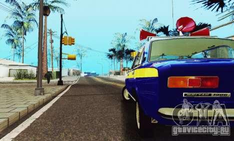 ВАЗ 21011 Агитационная для GTA San Andreas вид изнутри