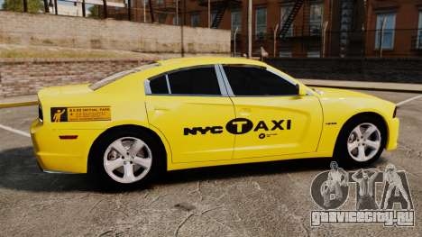 Dodge Charger 2011 Taxi для GTA 4 вид слева