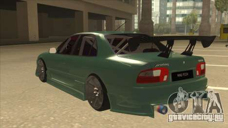 Proton Wira with s15 front end для GTA San Andreas вид сзади