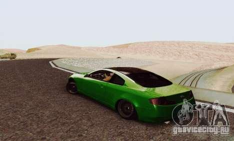 Infiniti G35 Hellaflush для GTA San Andreas вид сзади слева