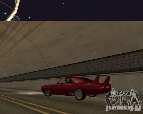 Dodge Charger Daytona для GTA San Andreas вид изнутри
