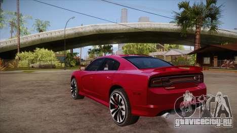 Dodge Charger SRT8 2012 для GTA San Andreas вид сзади слева