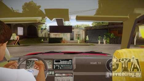 Lancia Delta Integrale EVO-2 для GTA San Andreas вид изнутри