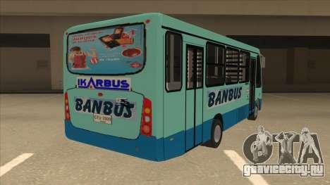 BANBUS Bus Srb. для GTA San Andreas вид справа