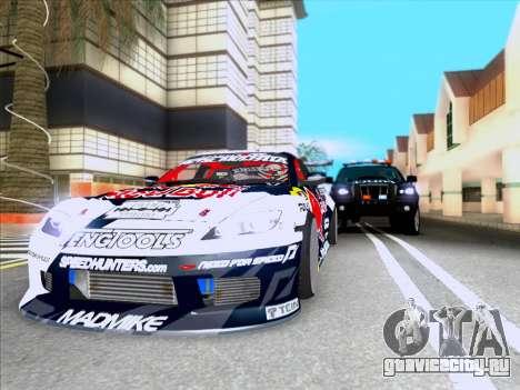 Mazda RX-8 NFS Team Mad Mike для GTA San Andreas вид сзади