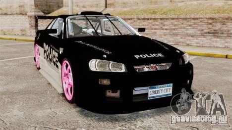 Nissan Skyline R34 для GTA 4