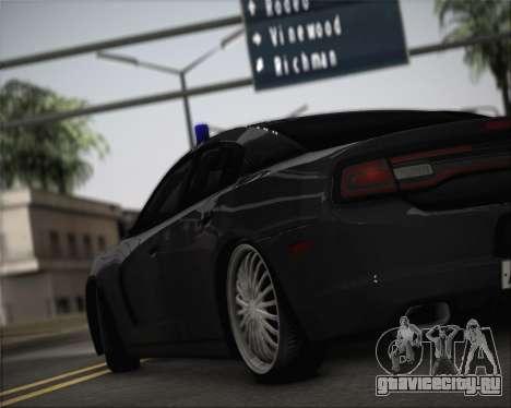 Dodge Charger SRT8 для GTA San Andreas вид сзади слева