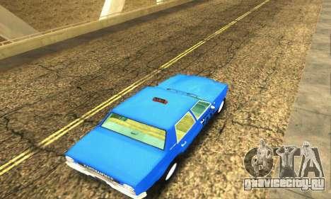 Fasthammer Taxi для GTA San Andreas вид сбоку