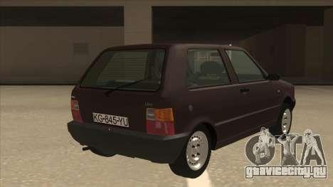 Yugo Uno 45 R 1994 для GTA San Andreas вид справа