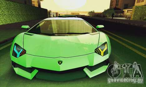 Lamborghini Aventador LP700 для GTA San Andreas вид сзади
