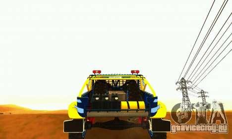УАЗ 31514 Ралли для GTA San Andreas вид сзади