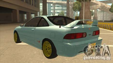 Honda Integra JDM Version для GTA San Andreas вид сзади слева