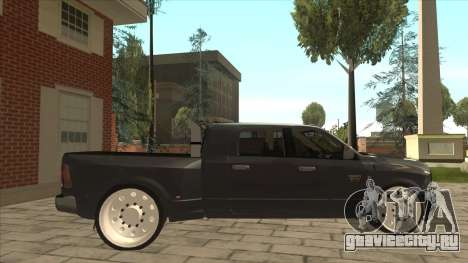 Dodge Ram Laramie Low для GTA San Andreas вид сзади слева