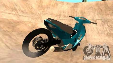 Honda 125cc Tuning для GTA San Andreas вид сзади слева