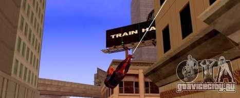 Человек Паук летит на паутине для GTA San Andreas второй скриншот