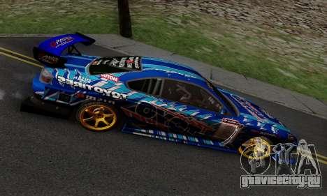 Nissan Silvia S15 Toyo Drift для GTA San Andreas вид изнутри