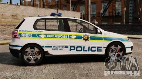 Volkswagen Golf 5 GTI Police v2.0 [ELS] для GTA 4 вид слева