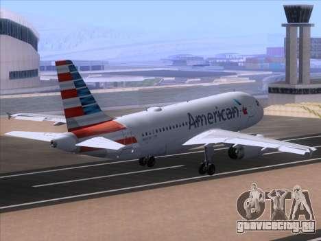 Airbus A319-112 American Airlines для GTA San Andreas вид изнутри