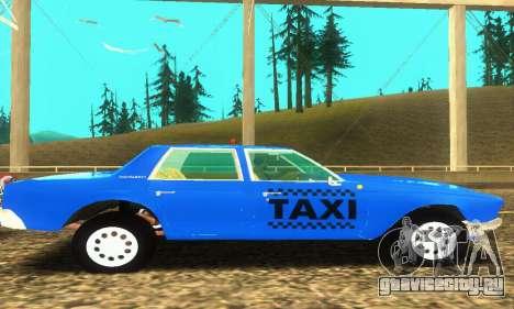 Fasthammer Taxi для GTA San Andreas вид изнутри