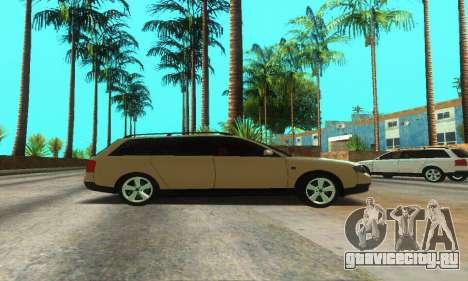 Audi A6 (C5) Avant для GTA San Andreas вид сбоку