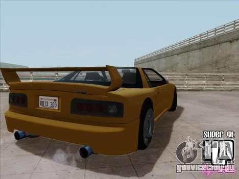 Super GT HD для GTA San Andreas вид сзади слева