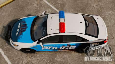Ford Taurus 2010 Police Interceptor Detroit для GTA 4 вид справа